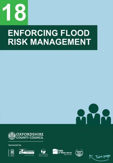 Flood Guide 18: Enforcing Flood Risk Management