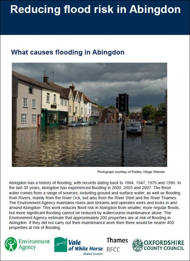 Download Abingdon Flood Alleviation Scheme Information