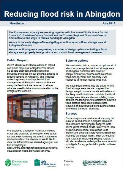 Download Abingdon Flood Alleviation Scheme Newsletter July 2018