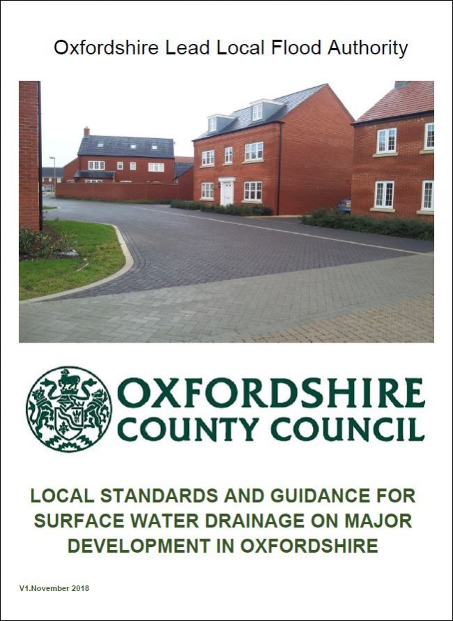 Download the Local Standards and Guidance for Surface Water Drainage on Major Development in Oxfordshire